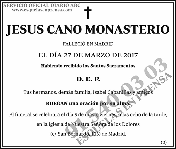 Jesus Cano Monasterio